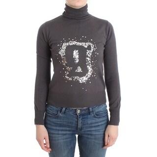 Galliano Brown turtleneck cotton sweater