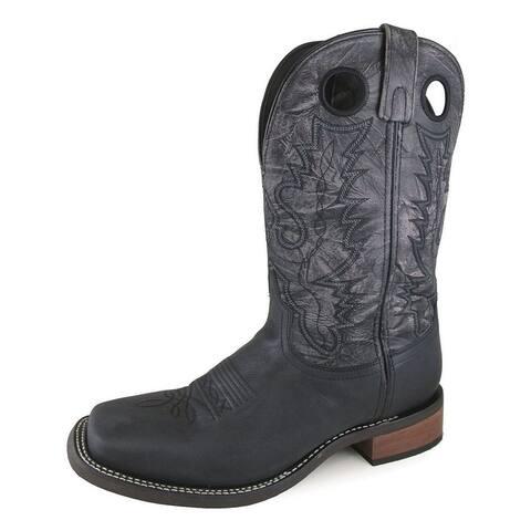 Smoky Mountain Western Boots Mens Duke Black Distress