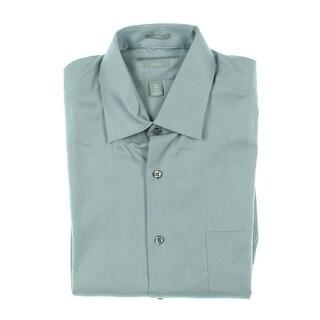 Van Heusen Mens Dress Shirt Printed Long Sleeves