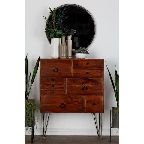 Brown Albizia wood Modern Chest 46 x 36 x 15 - 36 x 15 x 46