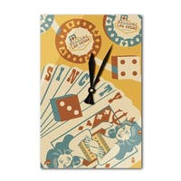Las Vegas, Nevada Sin City - Lantern Press Artwork (Acrylic Wall Clock) - acrylic wall clock