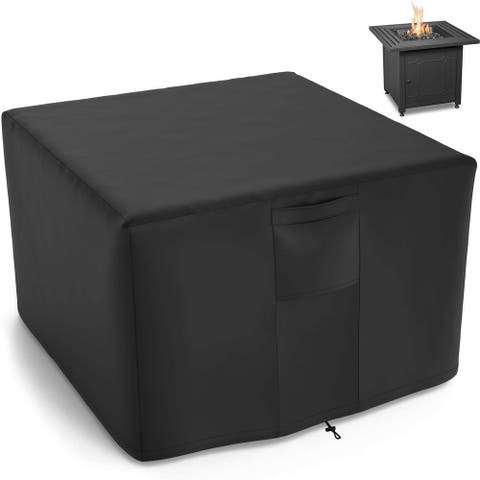 Patio Square Fire Pit Cover Waterproof Fire Pit Covers for Outdoor Fire Pit Table