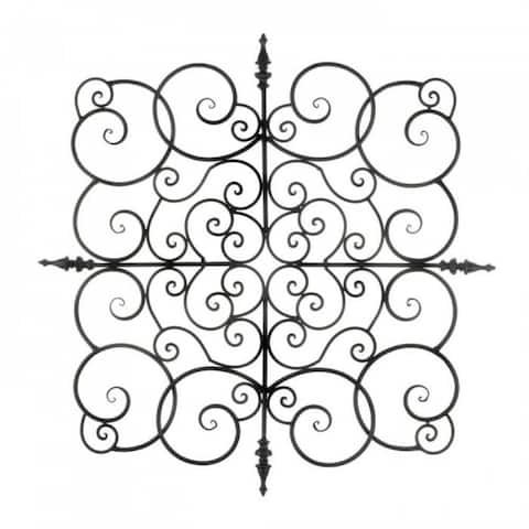 Flowing Scrollwork Wall Plaque