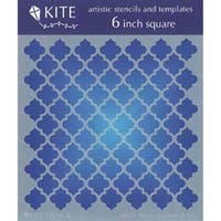 """Moroccan Lattice - Judikins 6"""" Square Kite Stencil"""