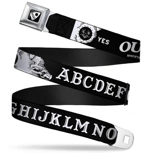 Ouija Planchette Full Color Black White Ouija Board Elements2 Black White Seatbelt Belt