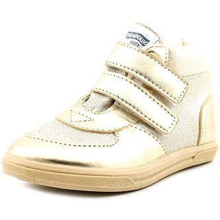 Pimpolho Urban Kids Youth Round Toe Leather Gold Sneakers