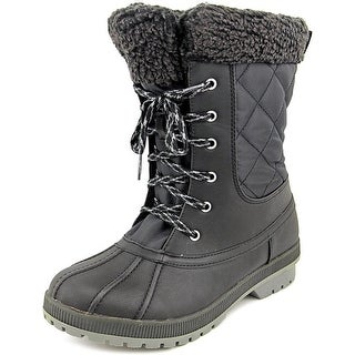 London Fog Swanley Women Round Toe Synthetic Black Winter Boot