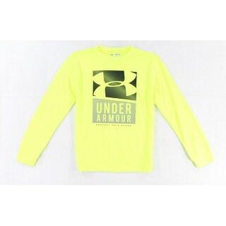 Under Armour NEW Neon Yellow Size Medium M Crew Neck Logo Athletic T-Shirt 925