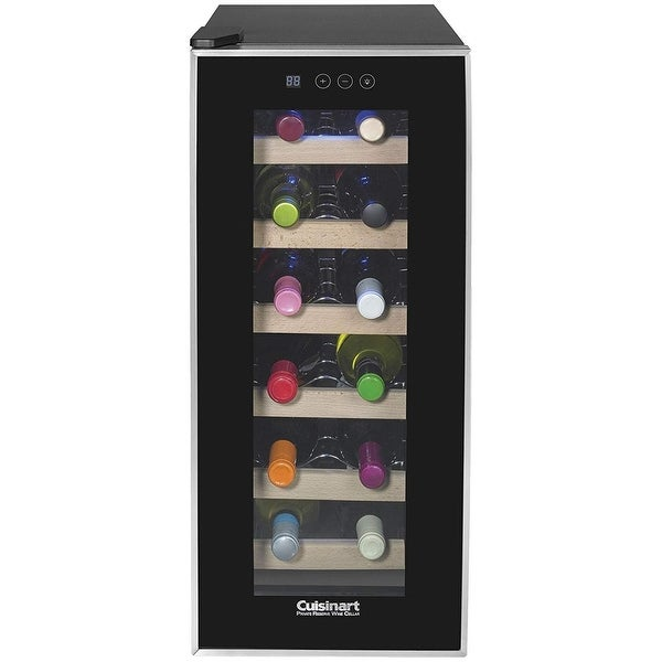Cuisinart CWC-1200TS 12-bottle Private Reserve Wine Cellar, Black