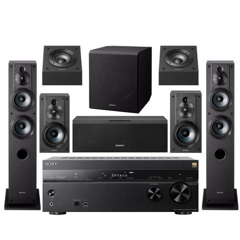Sony 7.2-Ch Home Theater AV Receiver with Subwoofer & Speakers Bundle