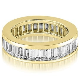 4.00 cttw. 14K Yellow Gold Baguette Diamond Eternity Ring