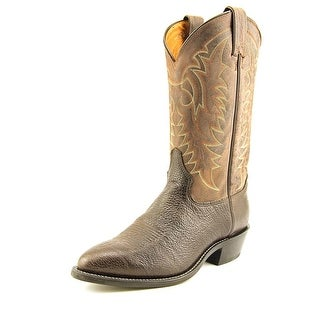 Tony Lama Conquistador Shoulder Men 2E Round Toe Leather Brown Western Boot