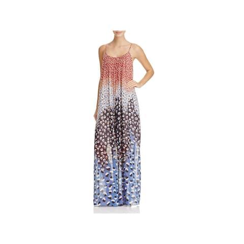 Nic + Zoe Womens Dahlia Maxi Dress Chiffon Printed