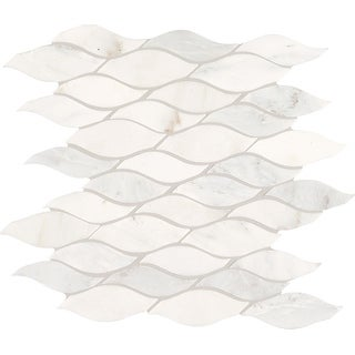 Daltile MWAVEMSL  Marble Collection - Random Wave Mosaic Wall & Floor Tile - Polished Marble Visual