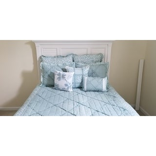 Madison Park Heidi Aqua Cotton Comforter Set