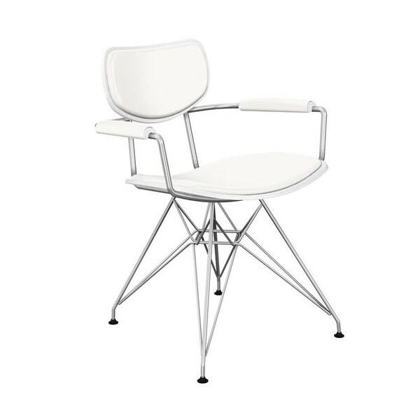 NyeKoncept 16020208 White Harvey Eiffel Armchair   White Leather