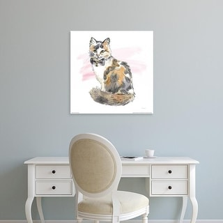 Easy Art Prints Beth Grove's 'Fancy Cats II Watercolor' Premium Canvas Art