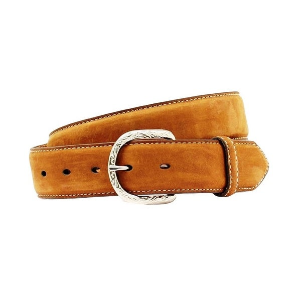 Nocona Western Belt Mens Basic Leather Distressed Brown