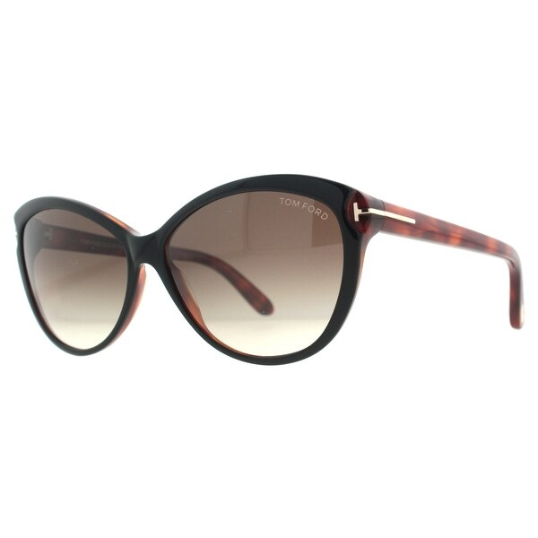 Tom Ford Telma TF325 03F Black/Havana Brown Womens Butterfly Sunglasses - 60mm-14mm-135mm