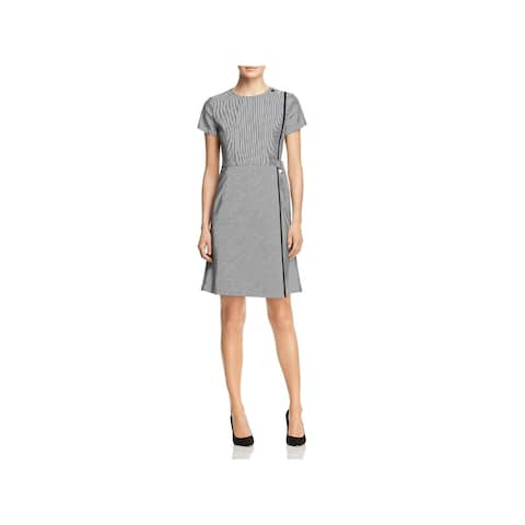 0c58f1ece5e BOSS Hugo Boss Womens Hadiana Cocktail Dress Faux Wrap Special Occasion
