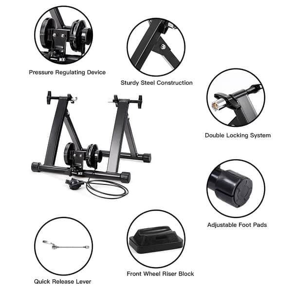 5 Level Resistance Magnetic Indoor Bicycle Bike Trainer Exercise Front Stand ✅