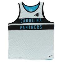 0c791162e00286 Jordan Mens Carolina Panthers Stripe Tank Top Blue - blue grey black - XXL