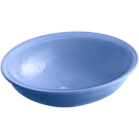 "Kohler K-2741-G6-B11 Artist Editions Whist Opaque Glass 19"" x 16-1/8"" Under-Mount Bathroom Sink In Sapphire - Sapphire Glass"