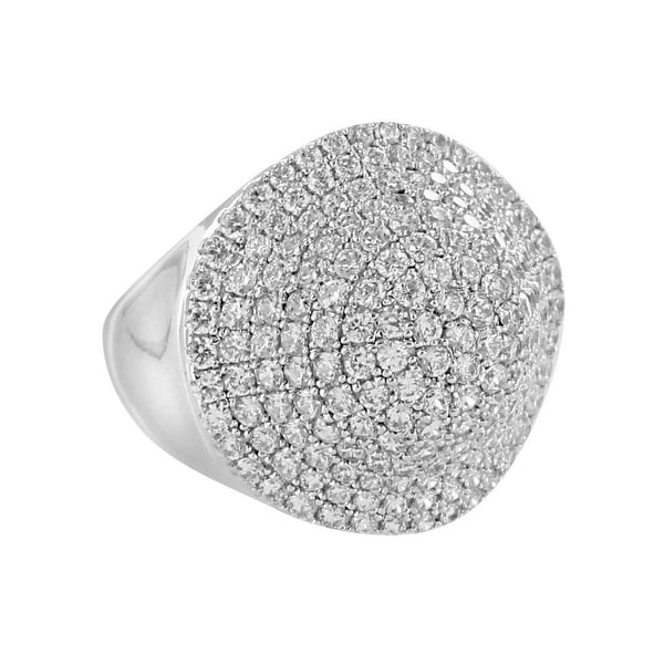 Custom Iced Out Men Ring Sterling Silver Lab Diamonds Womens