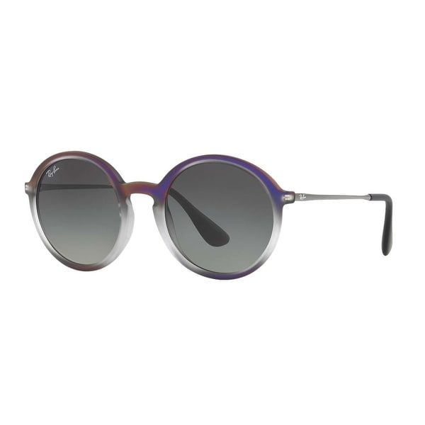 9534c817f8d4b Shop Ray-Ban Injected Man Sunglass - Violet Shot On Black Frame Grey  Gradient Dark Grey Lenses 50Mm Non-Polarized - One Size - Free Shipping  Today ...