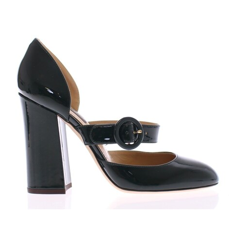 Dolce & Gabbana Green Patent Leather Mary Janes Shoes - 35