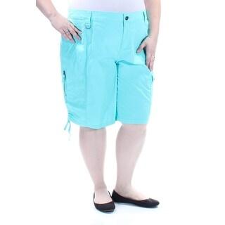 STYLE & COMPANY Womens New 1466 Green Mid Rise Bermuda Casual Short 24 Waist B+B
