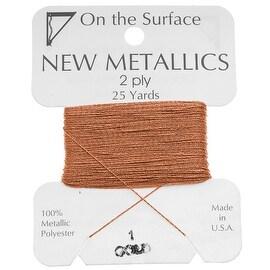 BeadSmith Metallic Thread - Copper Tone 2 Ply Thread For Embellishment 25 Yd