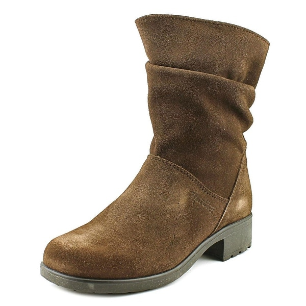 Martino Chantelle Round Toe Leather Mid Calf Boot