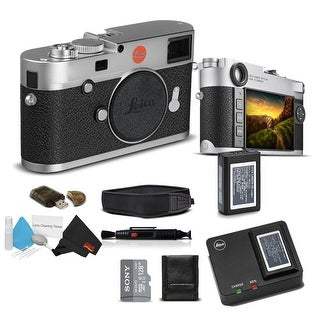 Leica M10 Digital Rangefinder Camera (Silver) With Sony 128GB Memory Card Bundle