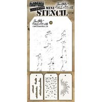Tim Holtz Mini Layered Stencil Set 3/Pkg-Set #38