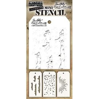 Tim Holtz Mini Layered Stencil Set 3/Pkg-Set #38