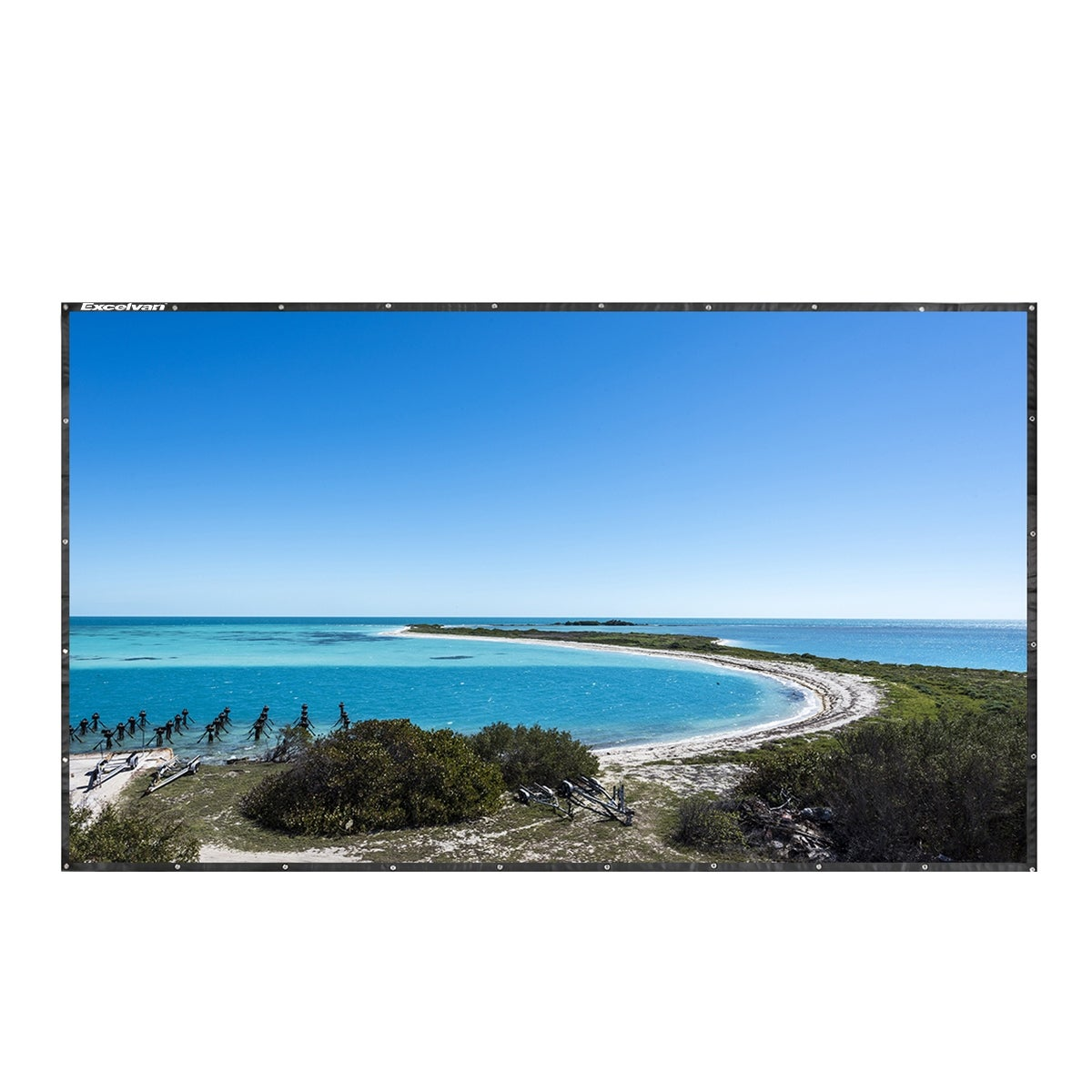120 Inch 16:9 Collapsible PVC HD Portable Home And Outdoor Use Projector Screen