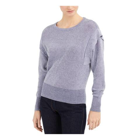 INC Womens Blue Patterned Long Sleeve Jewel Neck Sweater Size XXL