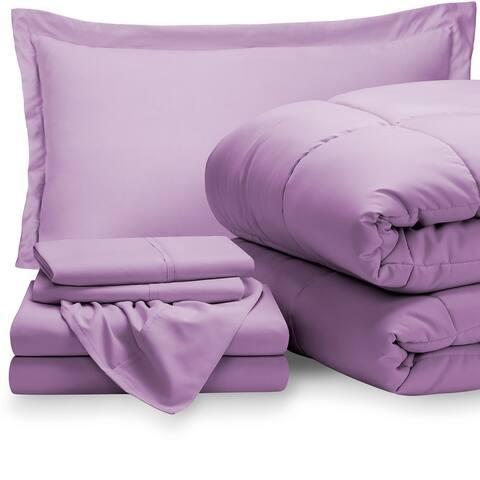 Bare Home Bed-in-a-Bag Down Alternative Comforter & Sheet Set