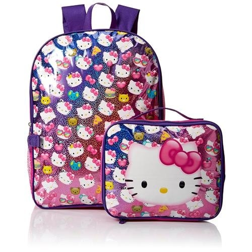 92f7f01c04ea Shop Hello Kitty Girls Backpack Lunch Bag Box Kit - Free Shipping On Orders  Over  45 - Overstock - 18616356