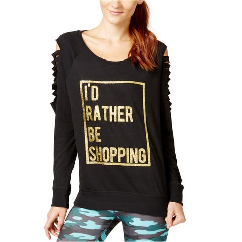 Material Girl Womens Cutout Graphic T-Shirt