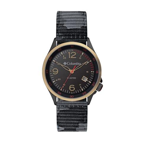 Columbia Canyon Ridge Black 3-Hand Date Black Camo Nylon Watch