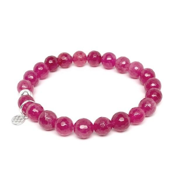 "Fuchsia Quartz Lucy 7"" Bracelet"