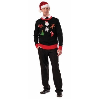 Christmas DIY Ugly Sweater Accessory Pin Kit - White