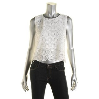 Lucy Paris Womens Lace Lined Casual Top