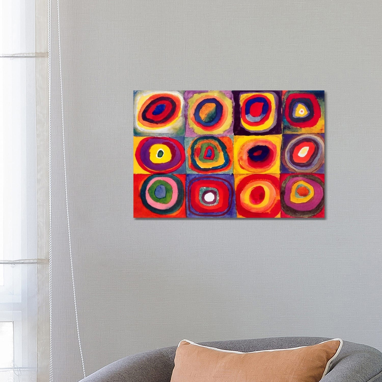 Icanvas Squares With Concentric Circles By Wassily Kandinsky Canvas Print Overstock 9465535