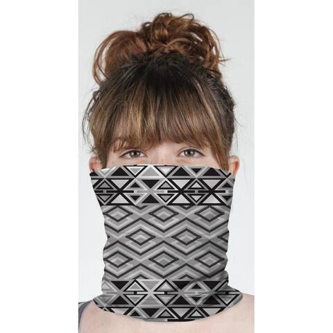 "TEELA BLACK & WHITE Neck Gaiter By Becky Bailey - 10"" x 18"""