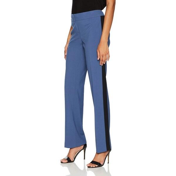 Nine West NEW Blue Womens Size 14 Stretch Colorblocked Dress Pants