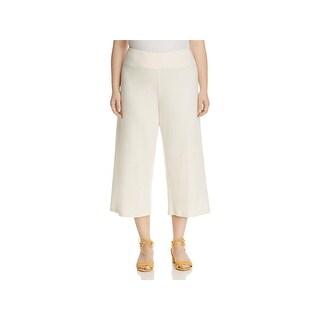 Eileen Fisher Womens Plus Cropped Pants Ponte Wide Leg - 3x