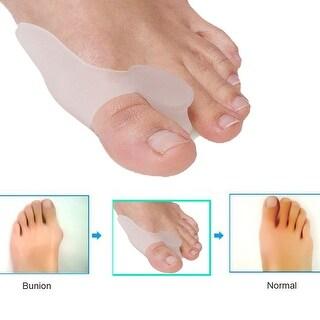 2PCS Gel Bunion Big Toe Straightener Protector Separator Corrector Splint Pad